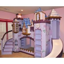 Furniture. Beautiful Ideas Of Castle Bunk Beds With Slide And Stairs To  Decorate Your Kids