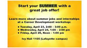 Summer Jobs Searching For Summer Jobs Internships Ivy Tech Lafayette