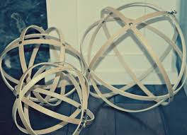 retropolitan: DIY Metal Decorative Spheres, or can make w wooden embroidery  hoops and thumb tacks.