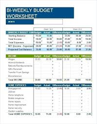 Weekly Monthly Budget Template Monthly Budget Template Excel Free Download Expenses Wedding Planner