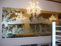 etched mirror 5 panel wall art 6 x 21 glass etching