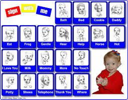 Baby Sign Language Chart Colorful Loving Printable