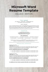 Modern Resume Template College Edition Tips For College Graduates