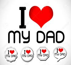 i love you dad i love you mom stock vector 24464663