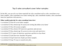 top5salesconsultantcoverlettersamples 150618025941 lva1 app6892 thumbnail 4jpgcb1434596435 cover letter sales consultant