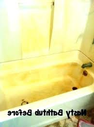 homemade rust stain remover natural rust remover for bathtubs bathtub stain remover bathtub removal yellow home