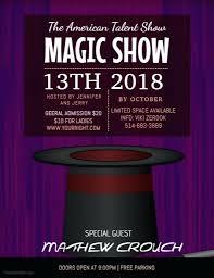 Magic Show Flyer Template Americas Got Talent Logo Updrill Co