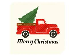 Old red truck with christmas tree and presents. Red Vintage Truck With Christmas Tree Graphic By Svgplacedesign Creative Fabrica