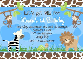 Jungle Theme Birthday Invitations Jungle Theme Birthday Invitation Template Scsllc Co