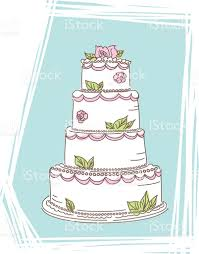 Cute Wedding Cake Icon Stock Vector Art More Images Of Cake