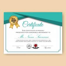 diploma frame vectors photos and psd files  modern verified certificate background template turquoise color scheme