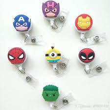 badge reel holder new cartoon mini iron man badge holder retractable id badge reel with belt badge reel