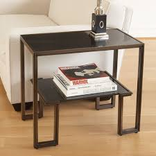 rectangle end table. Global Views One-Up Bronze End Table Rectangle I