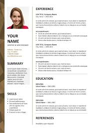 Free Resume Template Microsoft Word Impressive Dalston Free Resume Template Microsoft Word Brown Layout Classic
