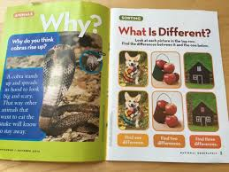 the national geographic little kids magazine is geared toward preers it features many diffe s each month and uses them as well as natural