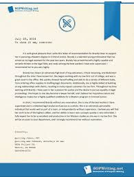 Effectively Written Sample Letter Of Recommendation For Ms