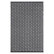 kimberley diamond plastic outdoor rug black