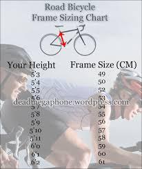 Bike Size Chart Road Bike Road Bicycle Sizing Chart Dead Megaphone