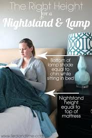 height of bedside table lamp the right height for a nightstand and lamp what height should
