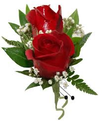 double red rose boutonniere cbbcla07
