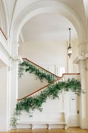 Feathery greenery lining the staircase   Celebrations in 2019 ...