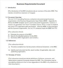 Sample Word Document Templates 7 Business Requirements Document Templates Pdf Word
