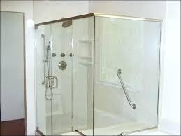 shower door heavy glass enclosure installation pivot parts basco frameless doors celesta