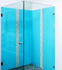 atmos blue coloured glass splashbacks frameless shower screen bathroom ensuite