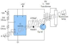 circuit diagram of fluorescent tube light circuit 6w fluorescent lamp driver circuit diagram on circuit diagram of fluorescent tube light