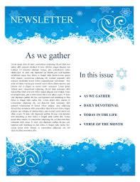 Winter Church Newsletter Template Newsletter Templates