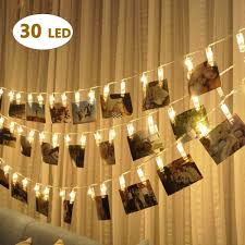 Battery Operated Hanging String Lights Bolweo Battery Operated Led Photo Clips Peg String Lights