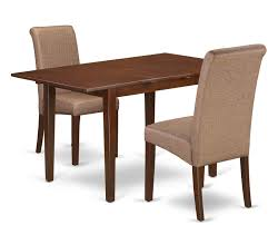 Winston Porter Carlie Kitchen Table 3 Piece Extendable Solid Wood