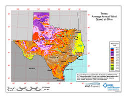 Download Free Texas 80 Meter Wind Energy Maps Charts