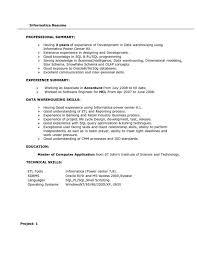 informatica resume sample professional informatica developer