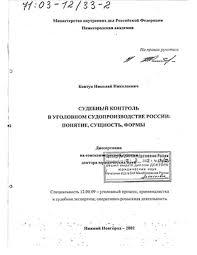 контроль в уголовном судопроизводстве России Понятие сущность  Судебный контроль в уголовном судопроизводстве России Понятие сущность формы