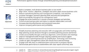 simple one page business plan template one page business plan template free 1 year business plan