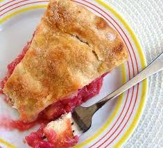 rhubarb pie baking sense