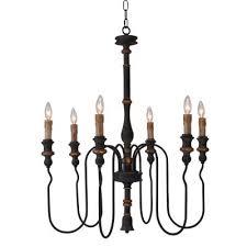 terracotta designs h8103 6 ayako six light chandelier antique black