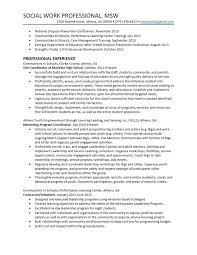Sample Of Social Worker Resume Example Of Social Worker Resume