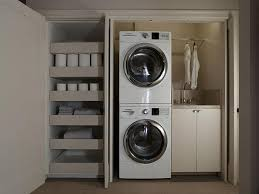 Laundry Room in Closet - Modern - Laundry Room