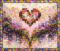 "Mary's Heart"" Watercolor Quilt Kit – Whims & It's hard to surpass the splendor of a Bargello Quilt Design! This extra  large Wall Hanging design measures 44″ x 37″ (without border). This popular  heart ... Adamdwight.com"