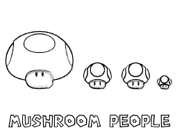 Printable Mario Mushroom Brothers Coloring Pages Classic Style