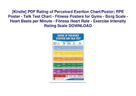 Perceived Exertion Heart Rate Chart Kindle Pdf Rating Of Perceived Exertion Chart Poster Rpe