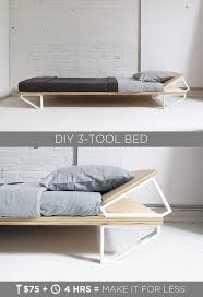 So if you have one of those ugly metal bed frames that you hide with a bed  skirt, this blogger feels ya. Tanya at 'Dans le Lakehouse' made this DIY  walnut ...