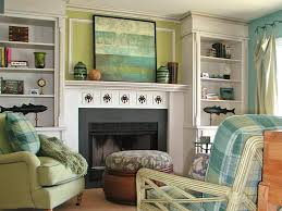 Living Room Mantel Decorating Fascinating Living Room With Artworks As Fireplace Mantel Decor