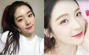 the first idol makeup look she made was based on red velvet irene s from when