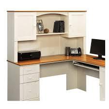 fabulous sauder computer desk with hutch desk sauder harbor view computer desk with hutch antiqued white