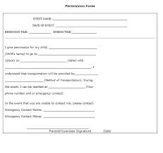 Permission Slip Template Interesting 48 Permission Slip Templates Field Trip Forms Places To Visit