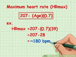 Maximum Heart Rate Formula M A N O X B L O G