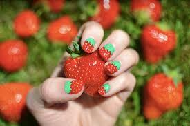Tapety červené Ovoce Zelená Jahody Hřebíky Prsty Umění Ruka